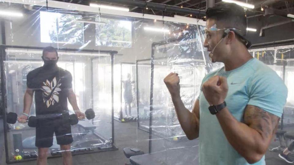 Plastikbox Fitnessstudio