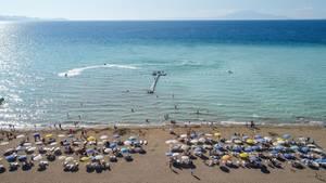 Ein Blue-Flag-Strand in der Türkei