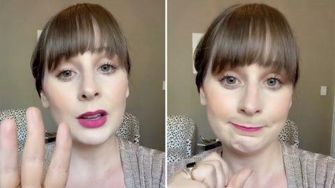 """Auf Tiktok kursiert eine neue Challenge: """"Put a finger down – female reality style""""."""