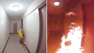 New York: Video zeigt Brandstiftung – Mann legt Feuer in Hochhaus