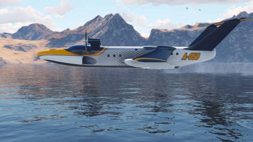Für den Flug in Bodennähe reichen die beiden Turboprob-Motoren.
