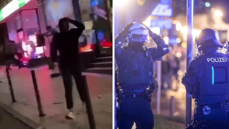 Stuttgart: Augenzeugenvideos zeigen Randale und Gewalt gegen Polizei