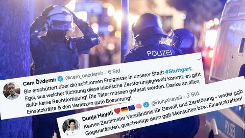Stuttgart: Twitter-Reaktionen zur Gewaltnacht