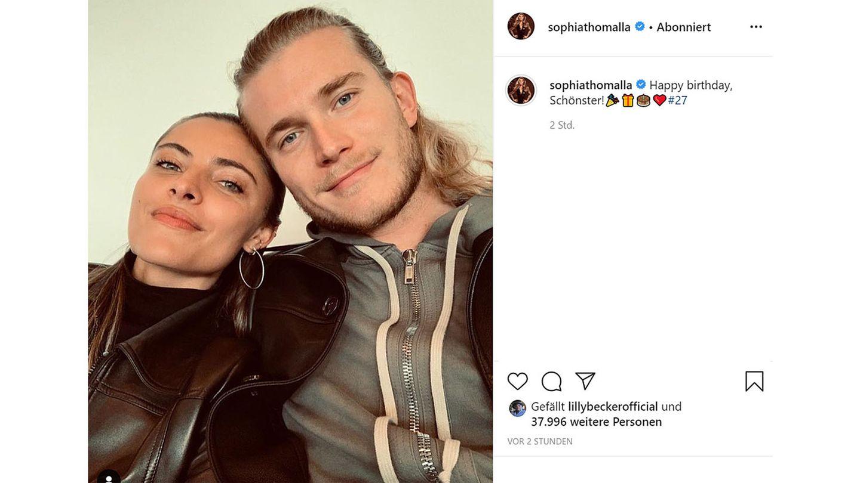 """Vip News: """"Happy birthday, Schönster"""" - Sophia Thomalla gratuliert Loris Karius zum Geburtstag"""