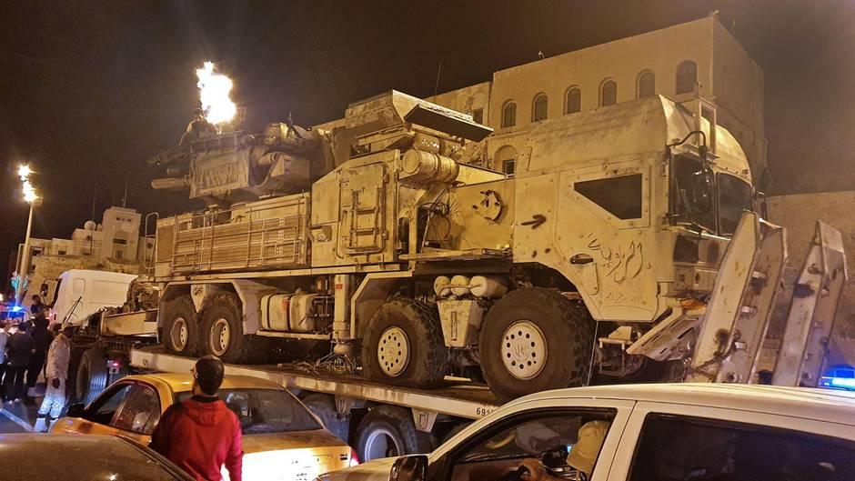 Ein Luftabwehrsystem auf einem MAN-Truck