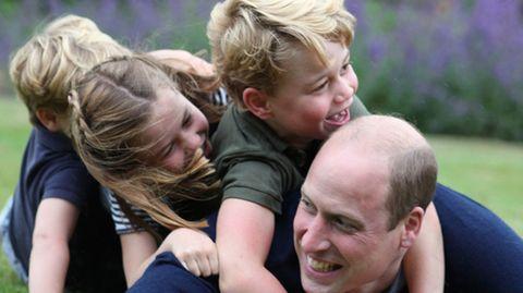 Königliches Geburtstagsgetobe – Neue Schnappschüsse von Prinz William mit seinen Kindern