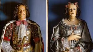 Wachsbüsten von Friedrich III. und Sophie Amalie