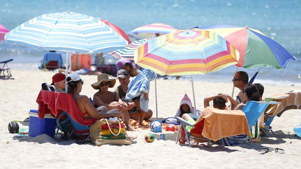 Am Strand von El Arenal auf Mallorca
