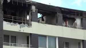 In Nümbrecht in Nordrhein-Westfalen sind bei einem Großbrand die Einsytzkräfte mit Eiern und Kartoffeln beorfen worden