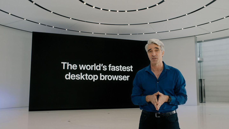 Bei der WWDC zeigte Apples Software-Chef Craig Federighi den neuen Safari-Browser