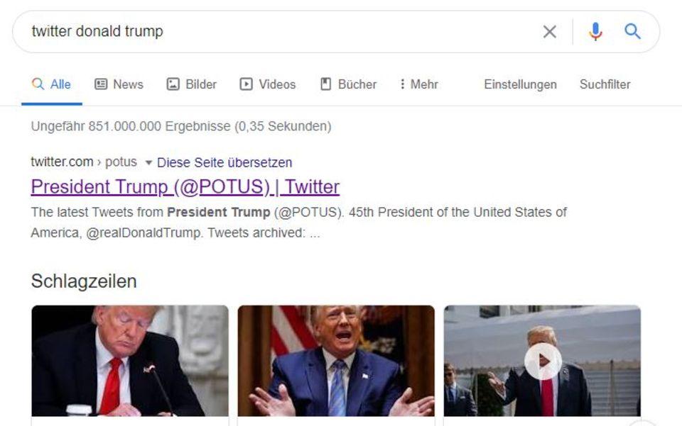 """Social Media: Twitter beanstandet weiteren Trump-Tweet – und Google """"versteckt"""" den Account"""