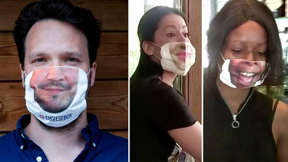 """""""Smiling Mask"""": Corona-Pandemie: Firma druckt Dein Lächeln auf Schutzmaske"""