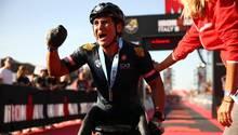 Alessandro Zanardi im vergangenen Jahr, als er einenIronman-Wettbewerbin Italien gewann
