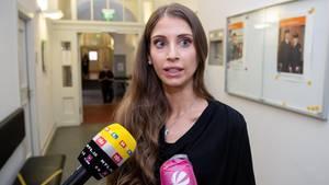 Cathy Hummels vor dem Münchner Oberlandesgericht