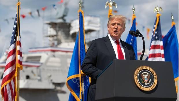 US-Präsident Donald Trump bei einem Auftritt in Wisconsin