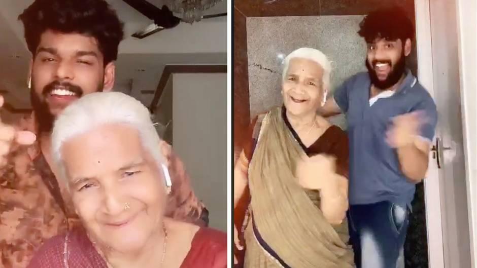 Lustige Playbacks: Dieser Typ macht die coolsten TikTok-Videos – mit seiner Oma