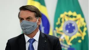 Jair Bolsonaro (M.), Präsident von Brasilien