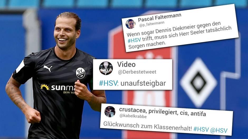 Twitter-Reaktionen: Relegation futsch: HSV von Sandhausen vermöbelt – das Netz kennt keine Gnade
