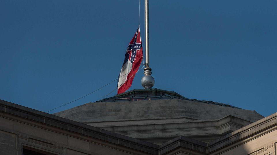 Mississippi Flagge Konföderierten