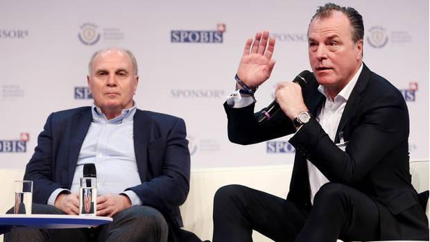 Uli Hoeneß (l.) und Clemens Tönnies auf einer Veranstaltung Anfang 2018