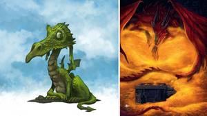 """Drachen kommen nicht immer furchteinflößend daher, Errol, aus Terry Pratchetts """"Wachen! Wachen!"""" etwa, """"hat in der Gen-Lotterie eine Niete gezogen"""", heißt es. (Den ein oder anderen könnte er auch an den bei Ritter Rost lebenden Drachen Koks erinnern ...) Smaug allerdings, der Feuerdrache aus """"Der Hobbit"""" von J. R. R. Tolkien und Letzte seiner Art, macht seiner Gattung alle Ehre."""