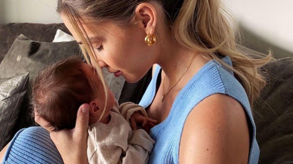 Ann-Kathrin Götze mit Baby Rome