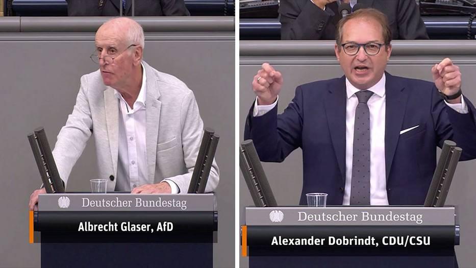 """Bundestagsdebatte : """"An Dummheit nicht zu überbieten"""": Alexander Dobrindt weist AfD-Mann in die Schranken"""