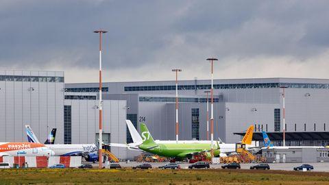Airbus-Werk in Hamburg-Finkenwerder