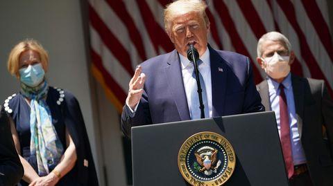 Donald Trump ohne Maske