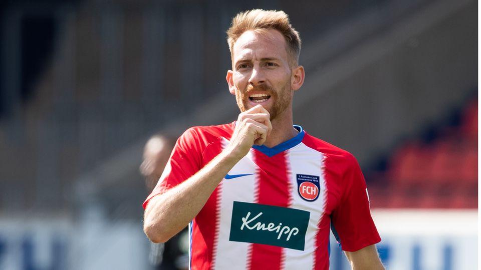 Marc Schnatterer vom 1. FC Heidenheim