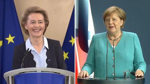 """Merkel und von der Leyen zur deutschen EU-Ratspräsidentschaft und der Angst vor zu viel """"German"""""""