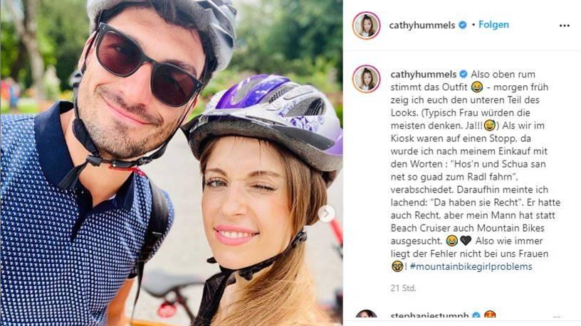 Vip News: Cathy und Mats Hummels auf Fahrradtour