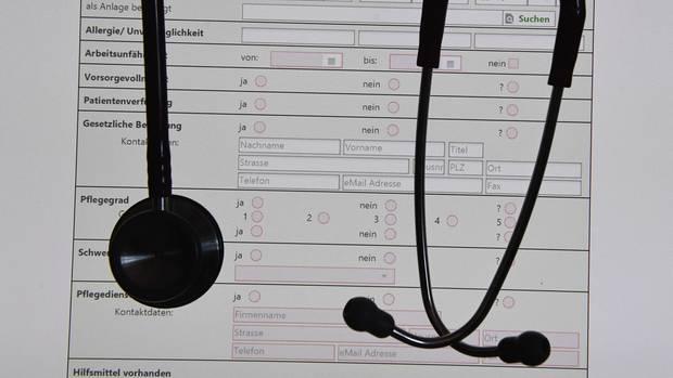 Eine digitale Patientenakte auf einem Bildschirm