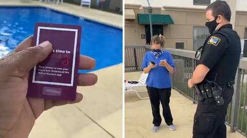 Hotel staff calls police because there is a black family in the pool
