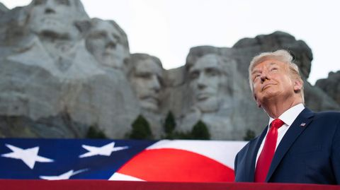 US-Präsident Donald Trump am Mount Rushmore