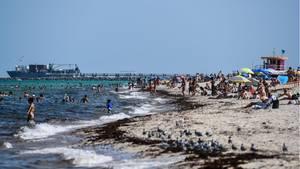 Badegäste am Miami Beach in Florida