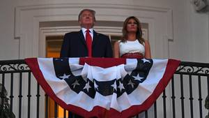 US-Präsident Donald Trump und First Lady Melania Trump