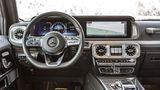 Das MBUX-Infotainmentsystem erweist sich auch bei der Mercedes G-Klasse als zuverlässiger Begleiter