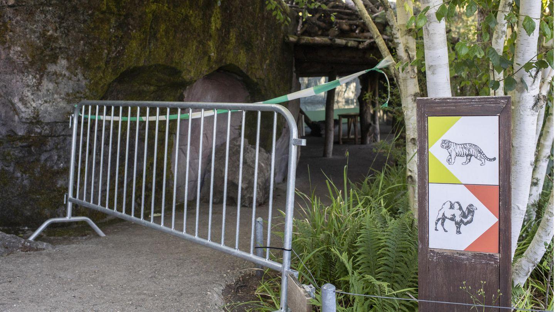 Zoo Zürich: Abgesperrter Bereich zum Tigergehege
