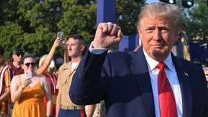 Donald Trump ballt die Faust