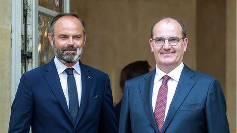 Jean Castex (r.) löst Edouard Philippe (l.) als Premierminister von Frankreich ab
