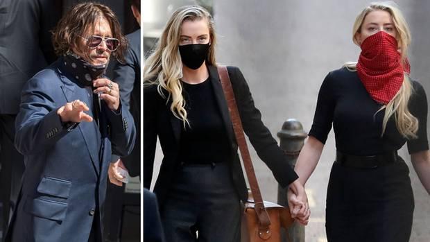 Johnny Depp und Amber Heard beim Prozessauftakt in London