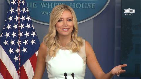 US-Pressesprecherin Kayleigh McEnany bei einer Konferenz im Weißen Haus.