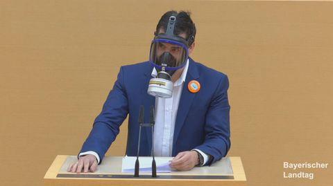 AfD-Abgeordnete Stefan Löw im Landtag von Bayern