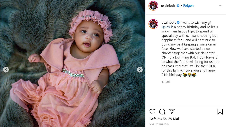 Vip News: Usain Bolt präsentiert Tochter und verrät ihren ungewöhnlichen Namen