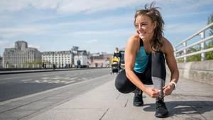 Laufschuhe sollten gut passen und bequem sein