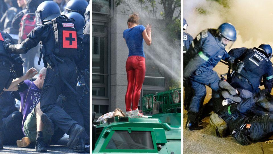 Polizeieinsätze bei G20-Gipfel in Hamburg