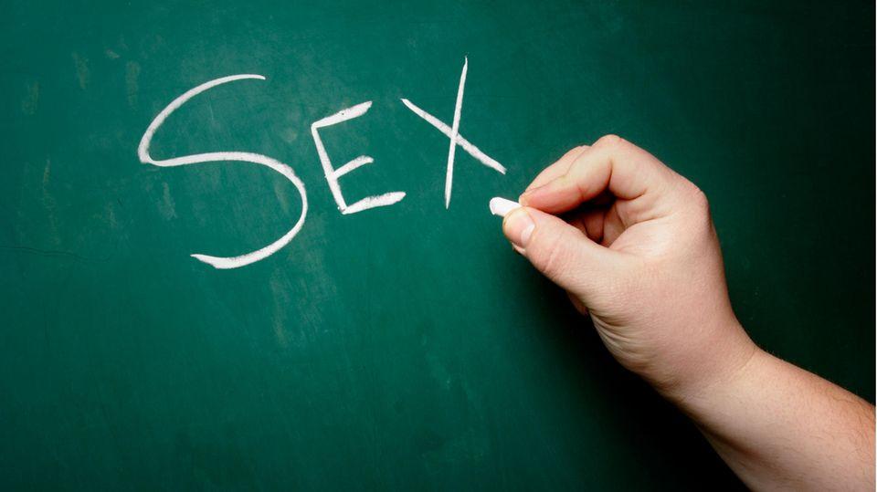Das Wort Sex auf einer Tafel