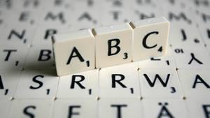 Scrabble: Buchstaben auf dem Brett