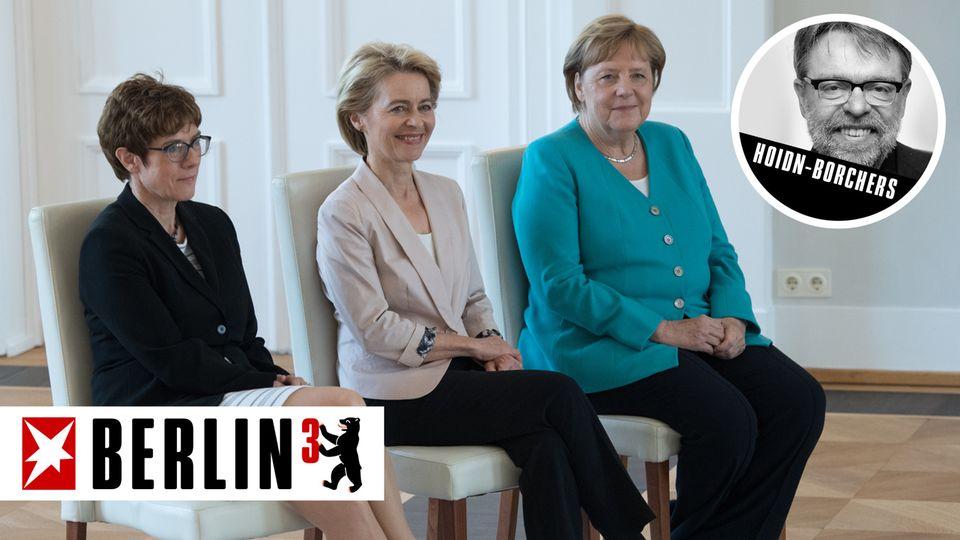 Annegret Kramp-Karrenbauer, Ursula von der Leyen und Angela Merkel